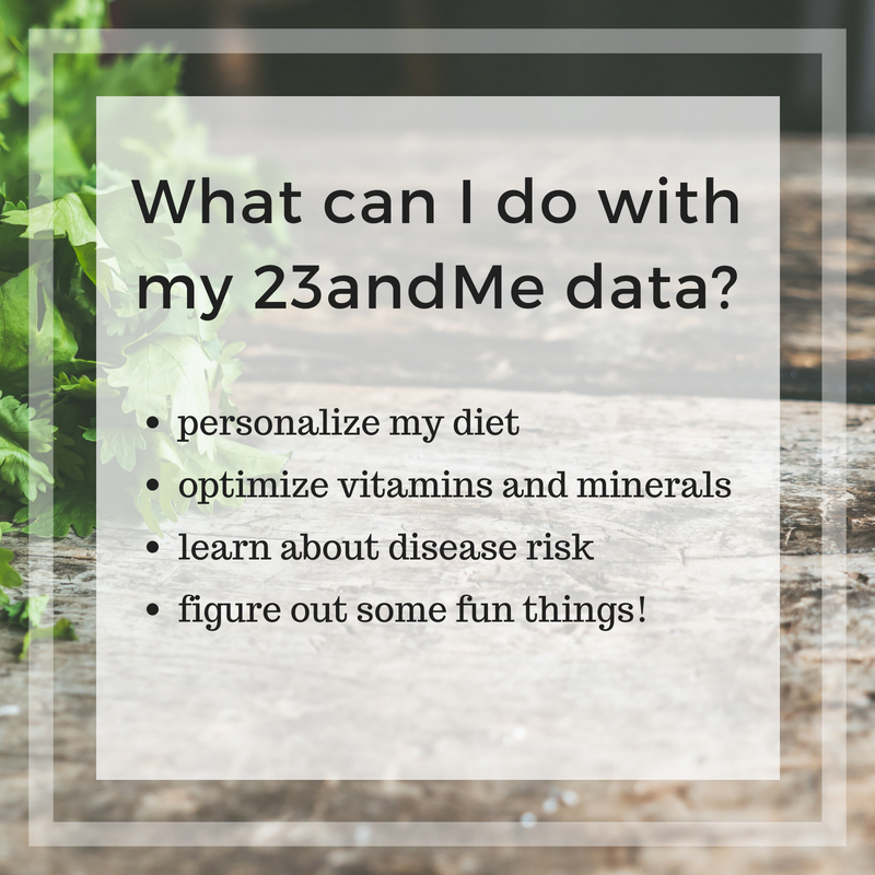 What can I do with my 23 and me genes?
